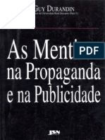 As Mentiras Na Propaganda e Na - Guy Durandin