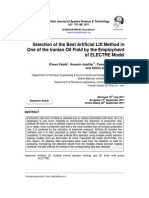 Selection of the Best Artificial Lift Method in One of the Iranian Oil Field by the Employment of ELECTRE Model