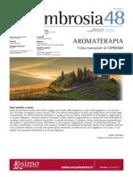 Ambrosia 48. Aromaterapia. L'olio essenziale di cipresso.