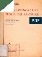 Hjelmslev Louis - Prolegomenos a Una Teoria Del Lenguaje (Gredos)
