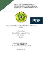 PERBANDINGAN SISTEM HUKUM PIDANA INDONESIA DENGAN SISTEM HUKUM PIDANA ISLAM (JINAYAH) MENGENAI DELIK PERZINAHAN