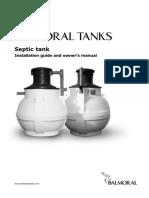 Septic Tank Installation Manual