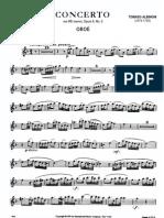 PARTITURA - OBOÉ - Tomaso Albinoni - Concerto Para Oboé - Opus 9, No. 2