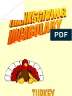 Thanks giving vocabulary