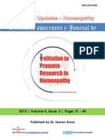 Research Updates Homeopathy Volume 4 Issue 3 (2015)