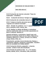 Cronograma de Evaluaciones y Actividades Septiembre Octubre