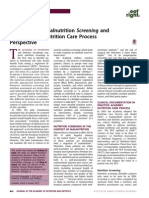 Differentiating Malnutrition Screening and Assessment a Nutrition Care Process Perspective