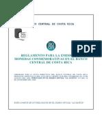 Reglamento Emision Monedas Conmemorativas BCCR