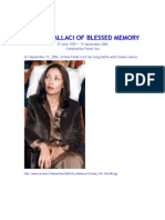 ORIANA FALLACI OF BLESSED MEMORY