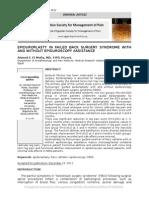Epiduroscopy