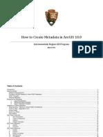 Metadata in ArcGIS 10.0