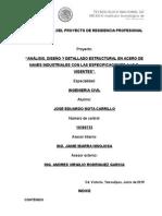 Analisis, Diseño y Detallado Estructural en Acero de Naves Industriales Con Las Especificaciones AISC Vigentes