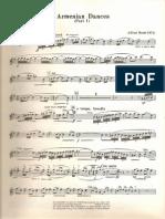 Armenian Dances Clarinet 1 Part