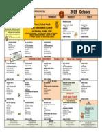 db - pv october lunch menu