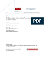 Rolling Contact Stress States of Two Contact Points on Curved Tra