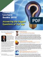 Public Lecture Series 2010