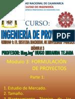 EL SISTEMA DE INVERSIÓN PUBLICA- FORMULACIÓN DE UN PROYECTO