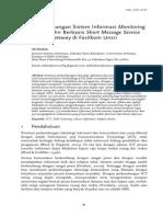 08 JUSI Vol 1 No 2 Pengembangan Sistem Informasi Monitoring TA Berbasis SMS Di Fasilkom Unsri