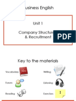 Bussines English Unit 1 - Company Structures and Recruitment