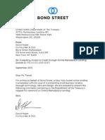 Treasury RFI - Bond Street