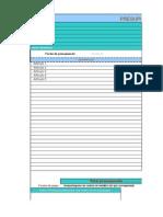 Planilla de mmmPresupuesto Para Excel