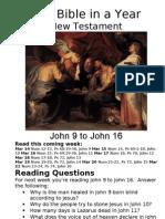 Bible in a Year 19 NT John 9 to John 16