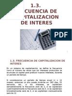 Frecuencia de capitalizacion de interes