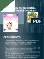 nutricion etapa prescolar