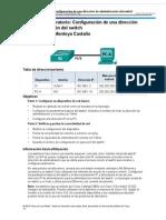 2 3 3 5 Practica de Laboratorio Configuracion de Una Direccion de Administracion Del Switchacion de Una Direccion de Administracion Del Switc