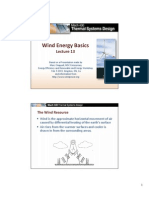 Lecture13 - Wind Energy basics