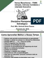 Apresentação Disciplina Planejamento Estratégico - Revisão 2010
