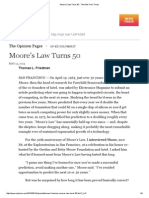 Moore's Law Turns 50 - The New York Times