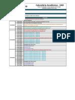 Calendario Geral EAD 2015.3 Semestral