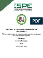 Informe Ecuaciones Diferenciales Ordinarias
