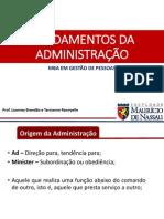 Fundamentos Da Administração