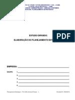 Estudo Dirigido Avaliação Disciplina Planejamento Estratégico