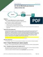 Uso de Wireshark para observar el protocolo TCP de enlace de tres vías