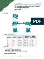 5 2 1 8 Laboratorio Observacion de ARP Con La CLI de Windows La CLI de IOS y Wireshark