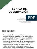 La Observación, Conceptos Básicos