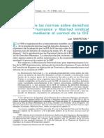 Desarrollo de Las Normas Sobre Derechos Huamnos y Libertad Sindical mediante el control de la OIT