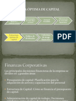 Estructura Optima de Capital