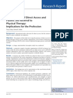 Global View of Direct Access and Patient Self Referral to Physical Therapy
