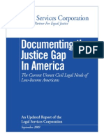 Documenting the Justice Gap in America 2009