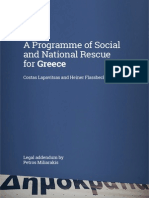 A Programme of Social and National Rescue for Greece