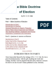 The Bible Doctrine Of Election