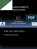Alternative Models of Return to Work Kathryn-mcpherson ACHRF 2011