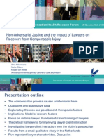 Non-Adversarial Justice and the Impact of Lawyers on Recovery From Compensable Injury-Arno-Akkermans ACHRF 2011