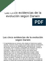 Las Cinco Evidencias de La Evolución Según Darwin