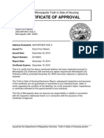 Certificate of Approval Mpls Tish
