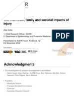The Individual Family and Societal Impacts of Injury ALex Collie ACHRF 2012